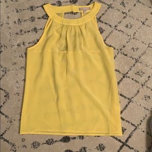 BR yellow Sleevless top
